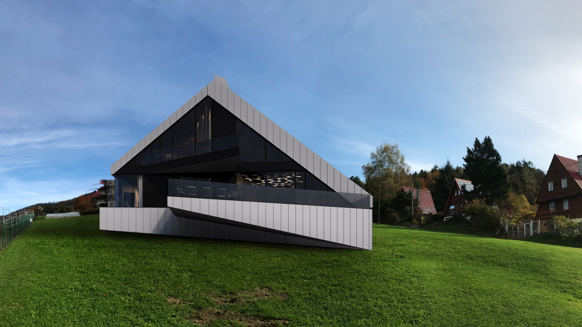 Dom RE: BIAS HOUSE projektu architekta Marcina Tomaszewskiego REFORM Architekt