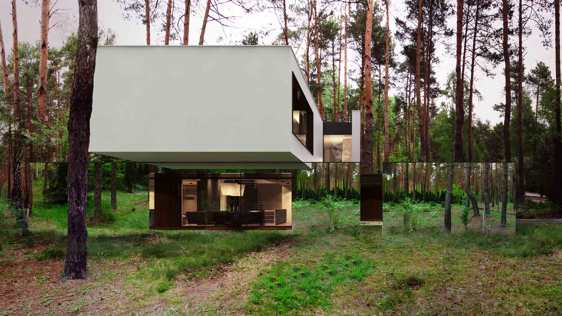 Dom RE: MIRROR HOUSE 1.0 projektu architekta Marcina Tomaszewskiego REFORM Architekt