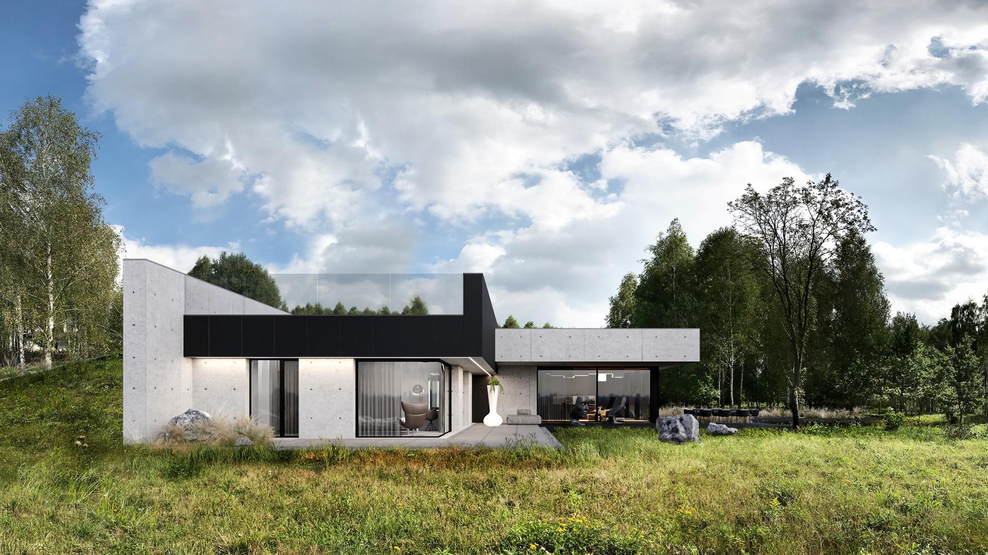Dom RE: HOUSE IN THE ROCK projektu architekta Marcina Tomaszewskiego REFORM Architekt