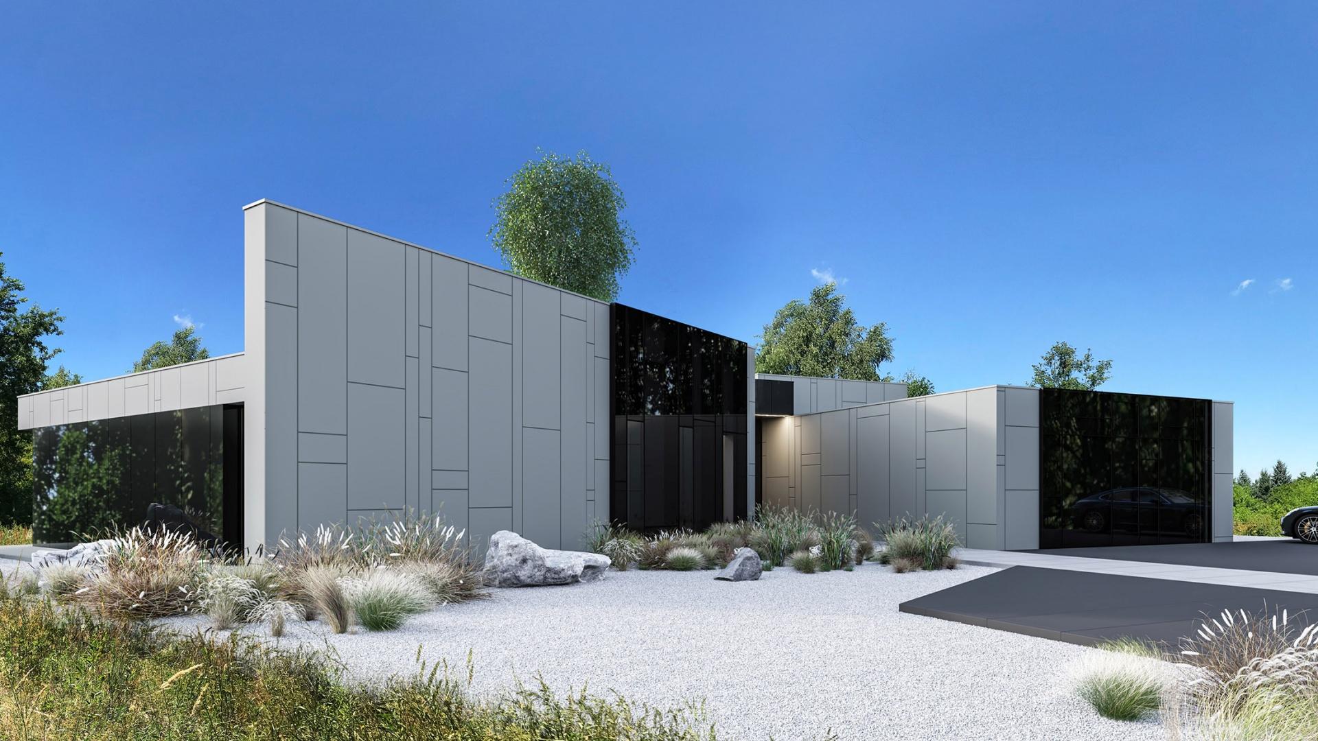 Dom RE: HOUSE WITH THE SKYLIGHT projektu architekta Marcina Tomaszewskiego REFORM Architekt