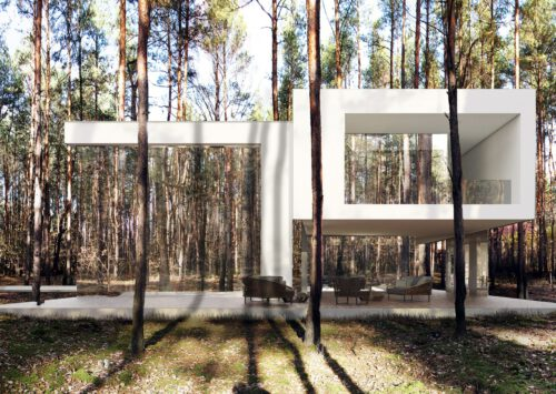 Dom RE: MIRROR HOUSE 2.0 projektu architekta Marcina Tomaszewskiego REFORM Architekt