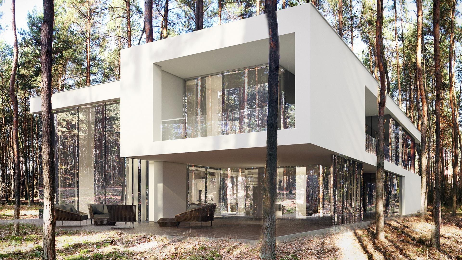 Dom RE: MIRROR HOUSE 2.0 projektu architekta Marcina Tomaszewskiego REFORM Architekt