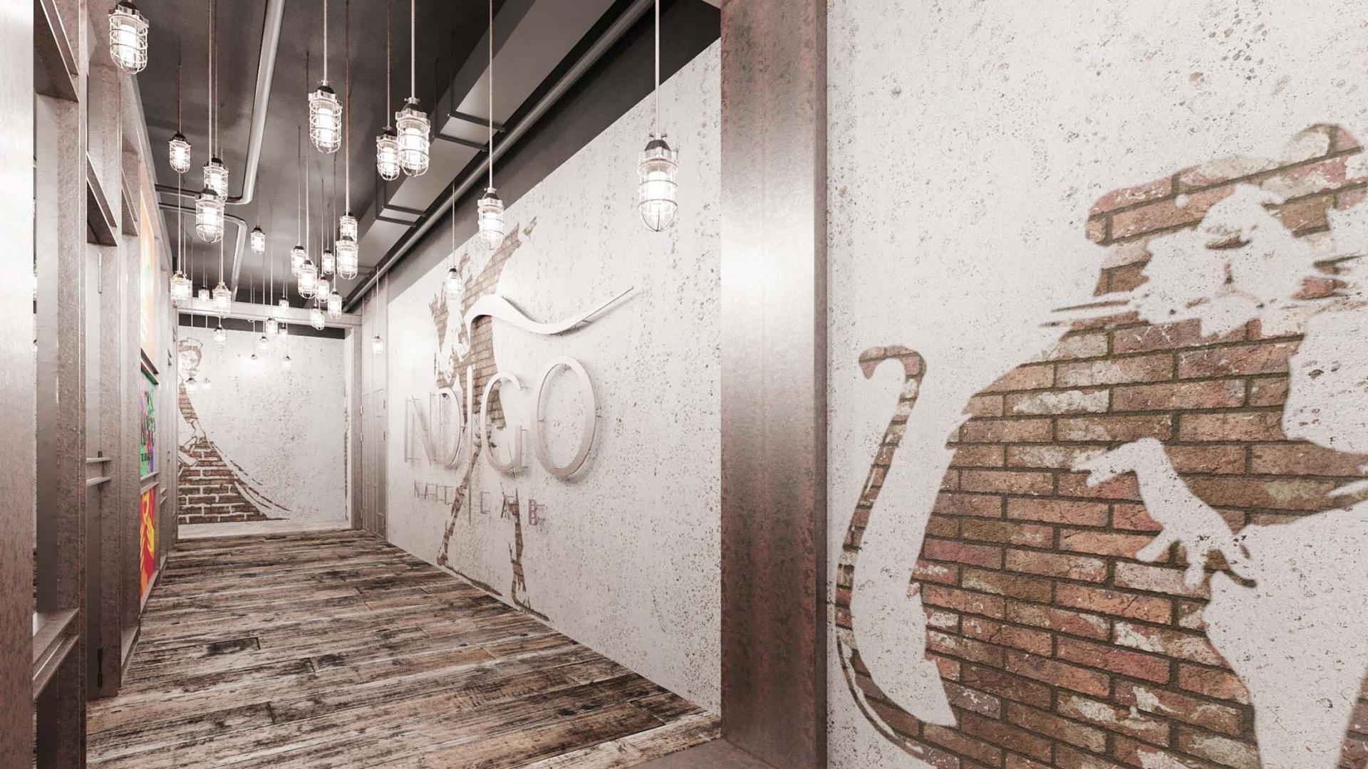 Projekt wnętrz RE: INDIGO CALL CENTER projektu architekta Marcina Tomaszewskiego REFORM-Architekt
