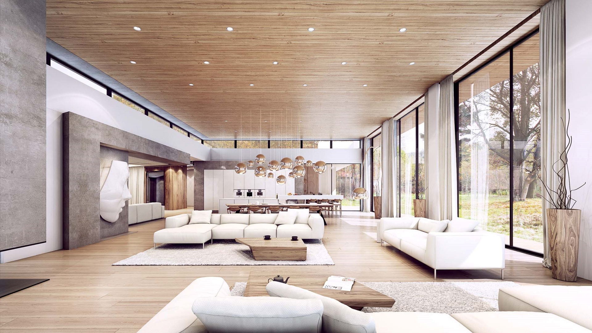 Projekt wnętrz RE: GREY HOUSE projektu architekta Marcina Tomaszewskiego REFORM Architekt