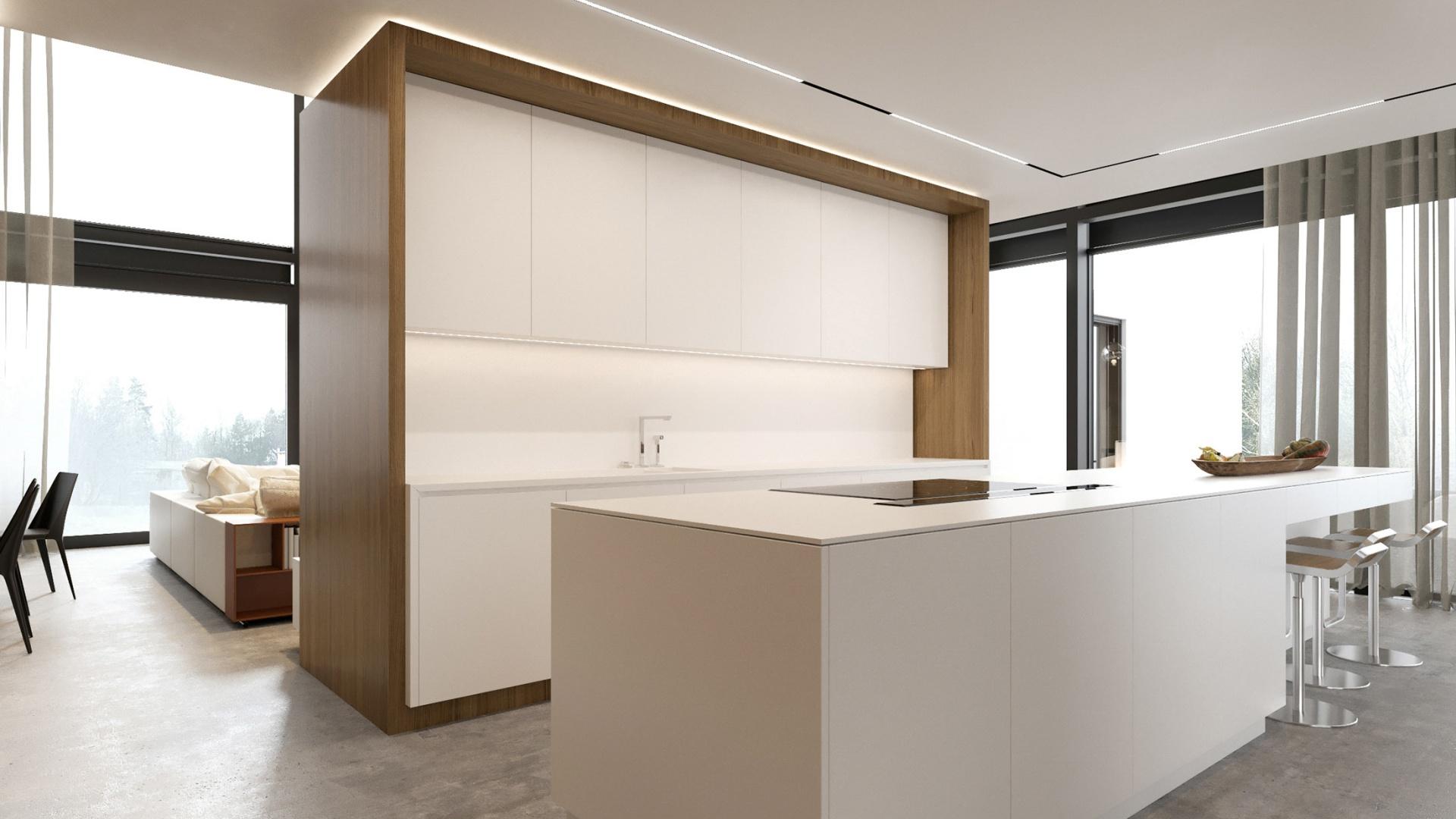 Projekt wnętrz RE: HOUSE IN PIOTRKÓW projektu architekta Marcina Tomaszewskiego REFORM Architekt